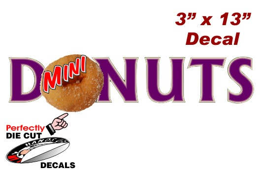Mini Donuts Wording 3 X13 Decal For Concession Trailer