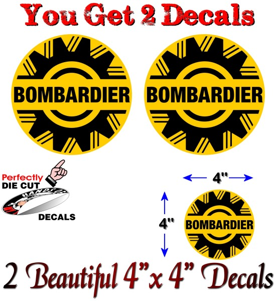 2 Vintage Bombardier 4 Quot Vinyl Decals Ski Doo Snowmobile
