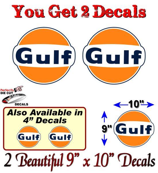 2 Gulf Gasoline Antique Gas Pump 9 Quot Decals Pumps Motor Oil