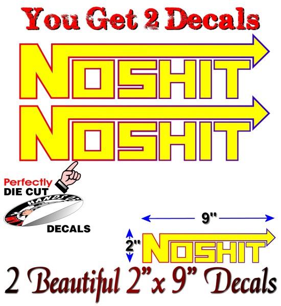 2 Noshit 9 Quot Racing Vinyl Graphics Decals Car Nitros