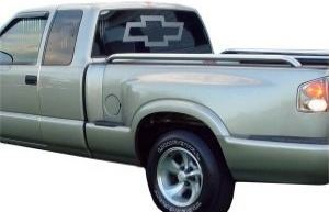 Etched Glass CHEVY BOWTIE Graphic Vinyl Decal For Chevy Truck - Chevy bowtie rear window decal